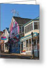 Bar Harbor Downtown  Greeting Card