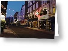 Bar Italia Soho London Greeting Card