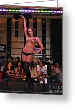 Bar Top Dancer In Las Vegas Greeting Card