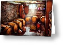 Bar - Wine - The Wine Cellar  Greeting Card by Mike Savad