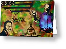 Barack And Sam Cooke Greeting Card