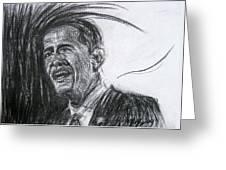 Barack Obama 1 Greeting Card