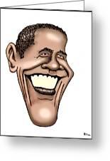 Barack Obama Greeting Card by Bill Proctor