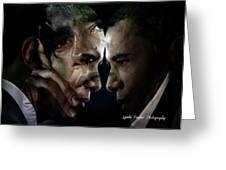 Barack Obama -  Greeting Card by Lynda Payton