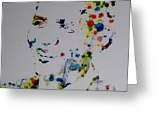 Barack Obama Paint Drops Greeting Card