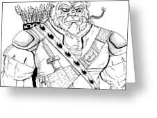 Baragh The Warrior Greeting Card