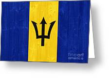 Barbados Flag Greeting Card