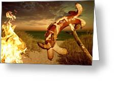 Barbecue On The Beach Greeting Card