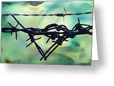 Barbed Wire Love-jealousy 2 Greeting Card