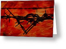 Barbed Wire Love Series  Rage Greeting Card