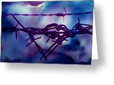 Barbed Wire Love Series The Blues 2 Greeting Card