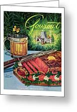 Barbeque Meat And A Mug Of Beer Greeting Card