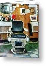 Barber - Barber Chair Front View Greeting Card