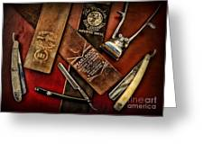 Barber - Barber Tools Of The Trade Greeting Card