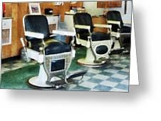 Barber - Corner Barber Shop Greeting Card