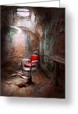 Barber - Eastern State Penitentiary - Remembering My Last Haircut  Greeting Card by Mike Savad