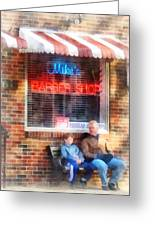 Barber - Neighborhood Barber Shop Greeting Card