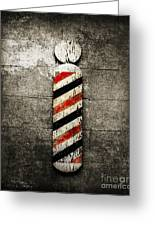 Barber Pole Selective Color Greeting Card