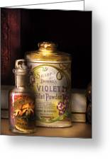 Barber -  Sharp And Dohmes Violet Toilet Powder  Greeting Card by Mike Savad