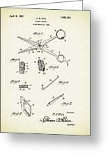 Barber Shears Patent 1927 Greeting Card