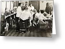 Barber Shop, 1920 Greeting Card