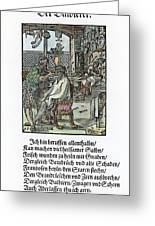 Barber-surgeon, 1568 Greeting Card