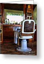 Barber - The Barber Shop Greeting Card
