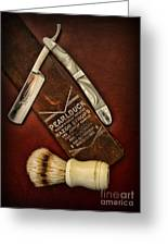 Barber - Tools For A Close Shave  Greeting Card