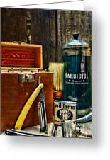 Barber - Vintage Barber Tools  Greeting Card