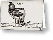 Barbershop Chair Patent Greeting Card