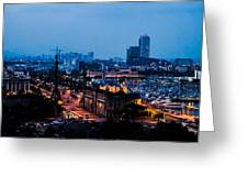 Barcelona At Night  Greeting Card