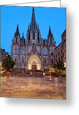 Barcelona Cathedral In The Evening Greeting Card