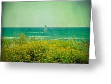 Barcelona  Gava Beach  Greeting Card