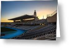 Barcelona Olympic Stadium Greeting Card