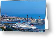 Barcelona Panorama Greeting Card