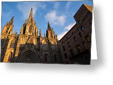 Barcelona's Marvelous Architecture - Cathedral Of The Holy Cross And Saint Eulalia Greeting Card
