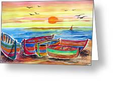 Barche Dei Pescatori  Greeting Card