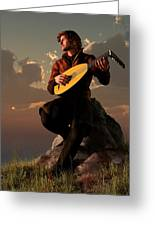 Bard With Lute Greeting Card