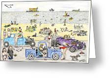 Bare Bods And Hot Rods Greeting Card