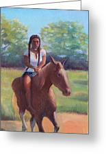 Bareback Riding Greeting Card