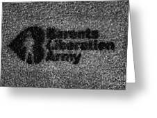 Barents Liberation Army Grafitti Kirkenes Finnmark Norway Europe Greeting Card