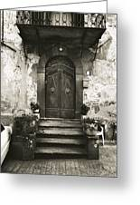 Barga Door Greeting Card