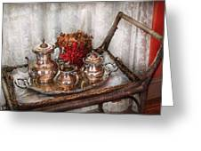 Barista - Tea Set - Morning Tea  Greeting Card