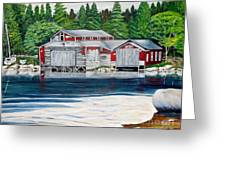 Barkhouse Boatshed Greeting Card