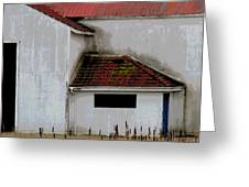 Barn - Geometry - Red Roof Greeting Card