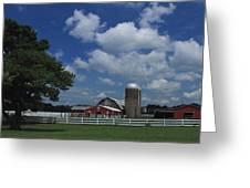 Farm Along The River Greeting Card
