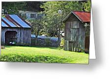 Barn And Chicken Coop Greeting Card