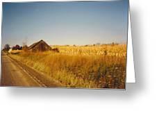 Barn And Corn Field Greeting Card
