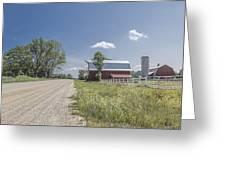 Barn And Dirt Road Greeting Card