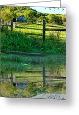 Barn And Fence Greeting Card